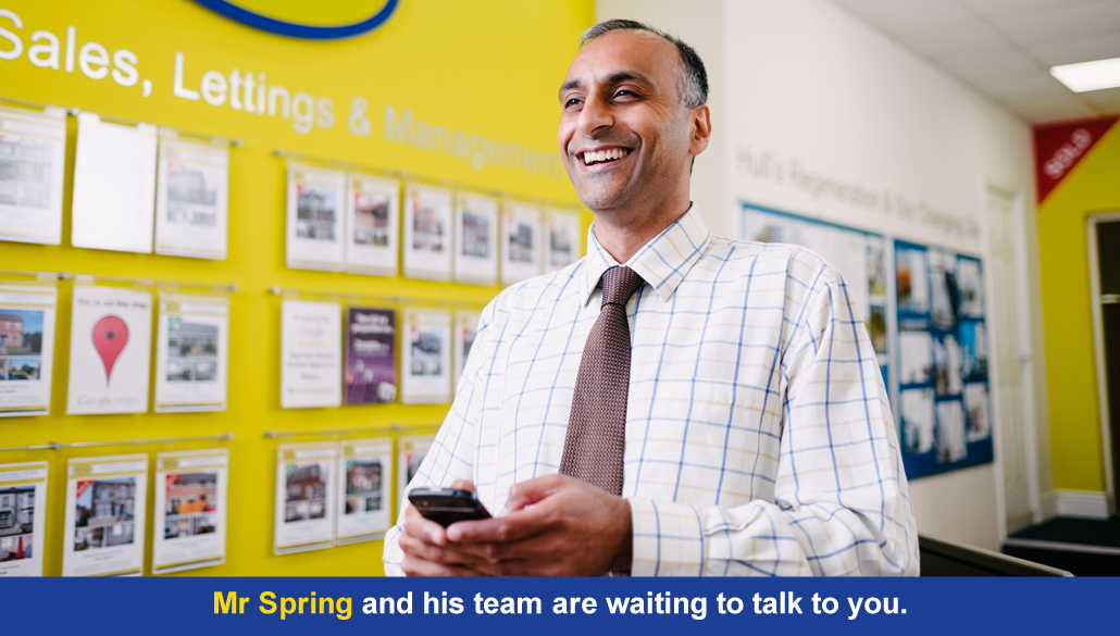 Mr Spring and his team are waiting to talk to you.